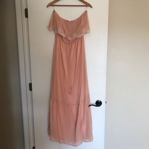 NWOT Flying Tomato Light Pink Strapless Maxi Dress